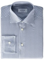 Eton Contemporary Fit Flower Medallion Button-Down (Brown) Men's Clothing