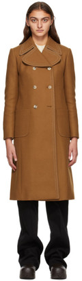 Lanvin Brown Double Breasted Coat