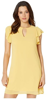 Vince Camuto Chiffon Float with Ruffle at Armhole and Keyhole