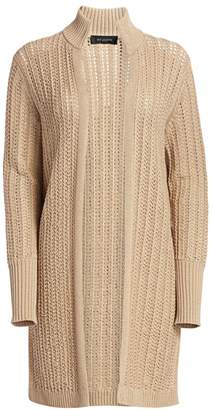 St. John Cable-Knit Cotton Cardigan