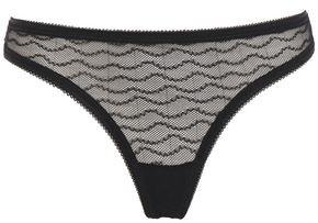 Les Girls Les Boys Stretch-lace Mid-rise Thong