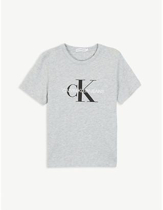 Calvin Klein Jeans Logo-printed cotton T-shirt 4-16 years