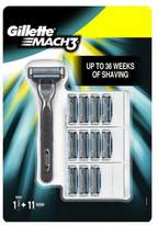 Gillette Mach3 Manual Razor + 11 Blades