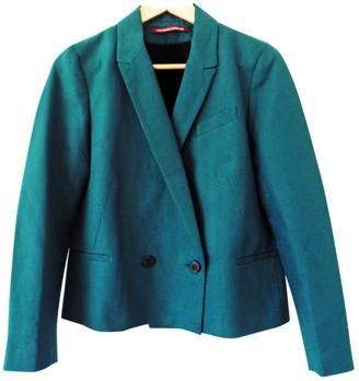 Comptoir des Cotonniers Green Cotton Jacket for Women