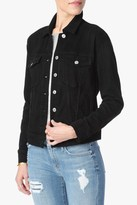 7 For All Mankind Denim Jacket With Shadow Pockets In Black Broken Twill