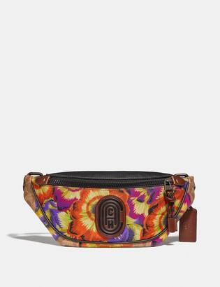 Coach Mini Rivington Belt Bag In Signature Canvas With Kaffe Fassett Print