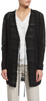 Elie Tahari Sheldon Self-Tie Woven Coat