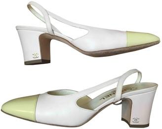 Chanel Slingback Ecru Leather Heels
