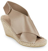 Kenneth Cole New York Quin Leather Espadrille Wedge Sandals