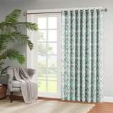 """E and E Co., LTD. Madison Park Ashlin Diamond-Print Patio Curtain - Aqua - 100 x 84"""""""