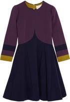 Roksanda Willow Paneled Stretch-cady Mini Dress - Navy