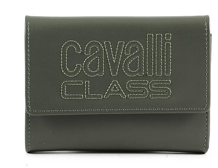 Thumbnail for your product : Class Roberto Cavalli Forest Green Leather Signature Women's Flap Wallet
