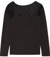 Cosabella Ines Lace-Paneled Pima Cotton Pajama Top