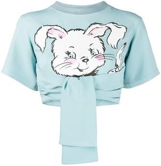 Moschino rabbit cropped T-shirt
