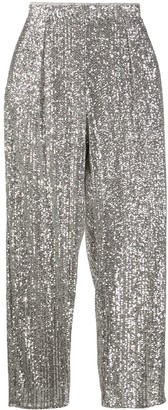 Patrizia Pepe All-Over Sequined Pants