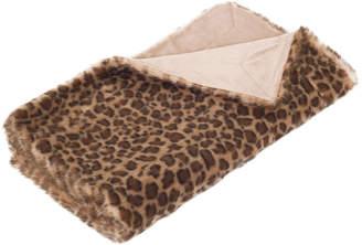 Safavieh Leopard-Print Faux Fur Throw Blanket