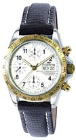 Fortis Men's 630.60.12 L.01 Official Cosmonaut Limited Edition Steel/18 KT Gold Analog Display Automatic Self Wind Black Watch