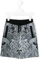 Philipp Plein printed track shorts - kids - Cotton - 4 yrs
