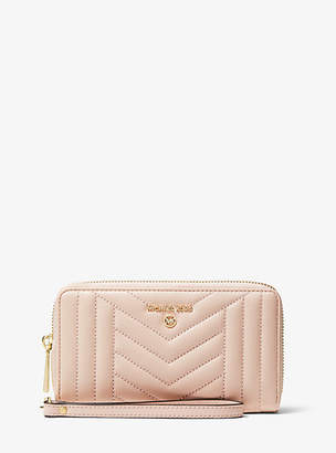 Michael Kors Large Quilted Leather Smartphone Wristlet