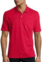 ST. JOHN'S BAY St. John's Bay Short-Sleeve Pocket Polo Shirt