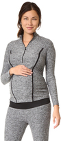 Beyond Yoga Featherweight Maternity Half Zip Pullover