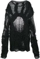Ann Demeulemeester multi-yarn knit jumper
