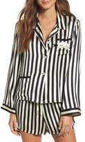 MORGAN LANE x Amanda Fatherazi Ruthie Mini Mask Stripe Pajama Top