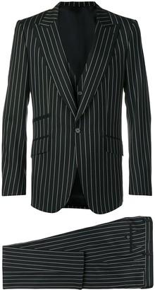 Dolce & Gabbana pinstriped three-piece suit
