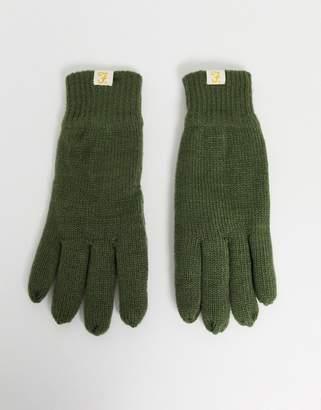 Farah Makalu lined gloves in olive-Green