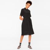Paul Smith Women's Black Silk Shirt-Dress