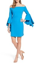Vince Camuto Women's Ruffle Sleeve Off The Shoulder Dress