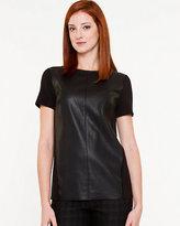 Le Château Knit & Leather-Like T-Shirt
