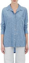 Frame Women's Slub Le Oversized Shirt-BLUE