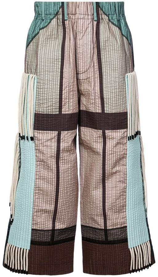 Craig Green cropped quilted trousers