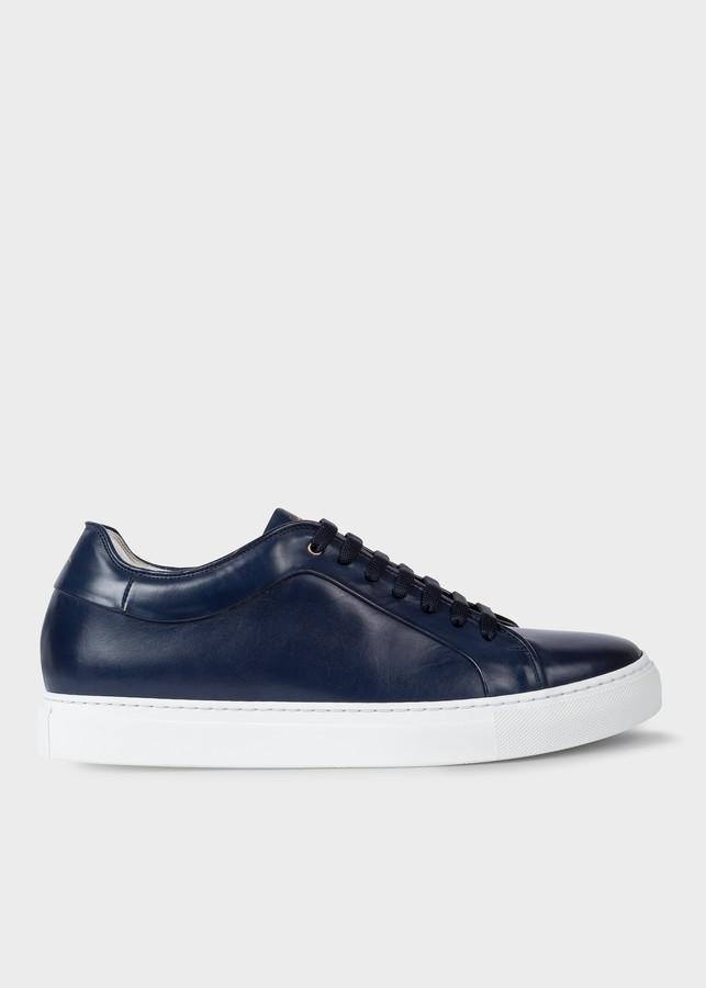 Paul Smith Men's Dark Navy Leather 'Basso' Sneakers