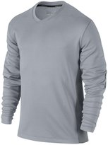Nike Mens Dri-Fit Long Sleeve Natural Touch V-Neck Sweater (S)