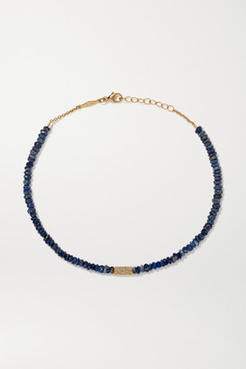 Jacquie Aiche 14-karat Gold, Lapis And Diamond Anklet - one size