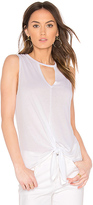 Lanston Cutout Tie Tank in White. - size L (also in M,S,XS)