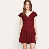 Maje Short dress with drawstrings