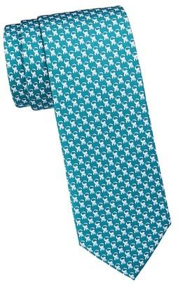 Salvatore Ferragamo Elephants Silk Tie