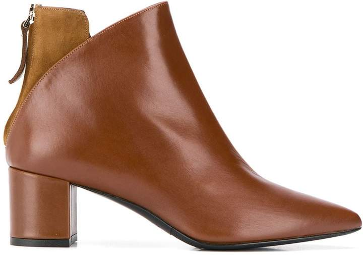 Albano contrasting panel ankle boots