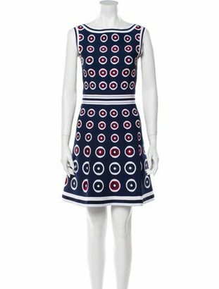 Alaia Printed Mini Dress Blue