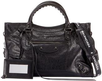 Balenciaga Small Metallic Edge Leather City Bag
