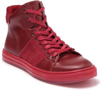 Badgley Mischka Teddy Leather & Suede Mid Sneaker