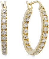Giani Bernini 18k Gold over Sterling Silver Cubic Zirconia In and Out Hoop Earrings (1-1/10 ct. t.w.)