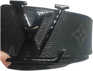 Louis Vuitton Hockenheim Black Leather Belts