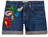Gucci Children's denim short with flowers