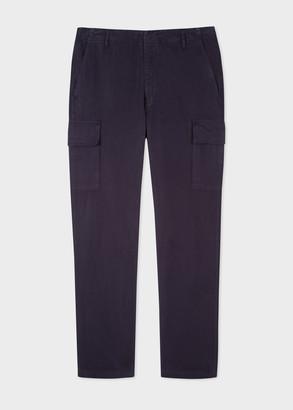 Paul Smith Men's Navy Cotton Cargo Trousers