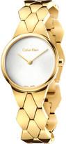 Calvin Klein K6E23546 Snake yellow gold-plated stainless steel bracelet watch