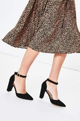 Oasis Womens Black Ankle Strap Heels - Black